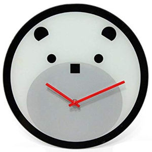 Bearly Time 12-Inch Glass Wall Clock